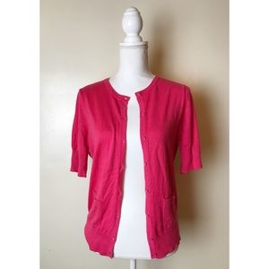 LOFT • Pink Cardigan
